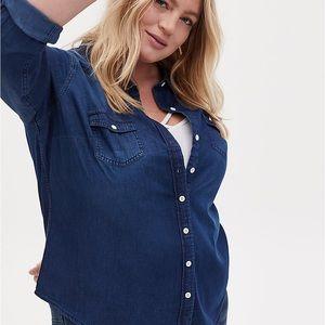 Torrid | Taylor - Dark Denim Button-up Shirt